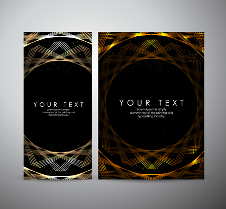 Brochure business design. Abstract gold shining pattern digital - Vector Background. Ilustração