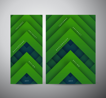Abstract modern green geometric digital - Vector Background. Brochure business design.