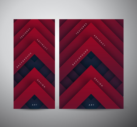 Abstract modern red geometric digital - Vector Background. Brochure business design.