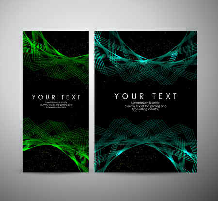 Abstract green shining pattern digital - Vector Background. Brochure business design.