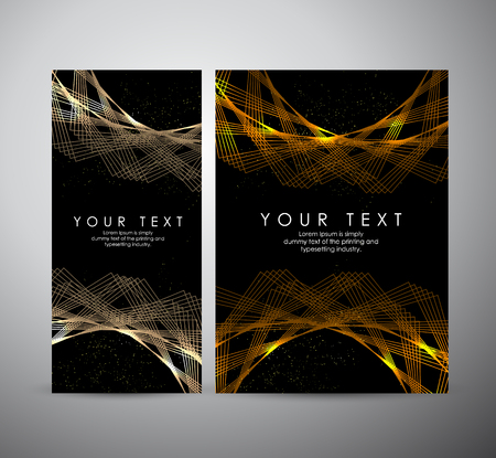 Abstract gold shining pattern digital - Vector Background. Brochure business design.