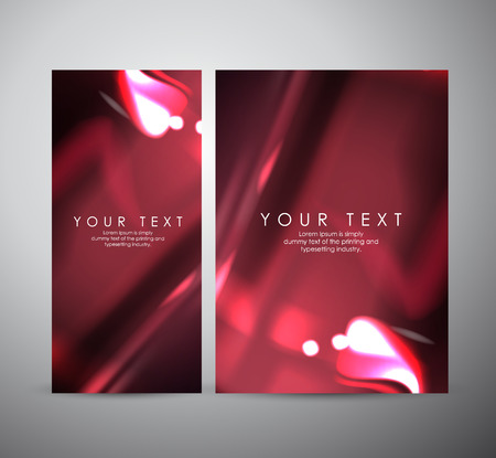 Abstract red shining pattern digital - Vector Background. Brochure business design.