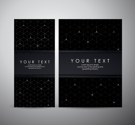 Abstract modern geometric shining pattern digital - Brochure business design template or roll up.