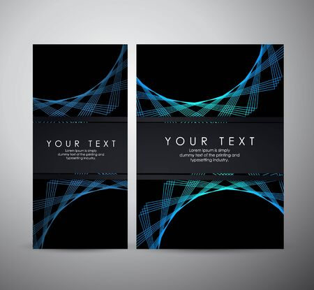 Abstract blue shining pattern digital - Vector Background. Brochure business design.