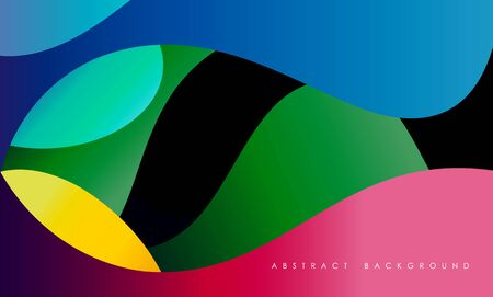 Abstract fluid banner template. Colorful wallpaper.