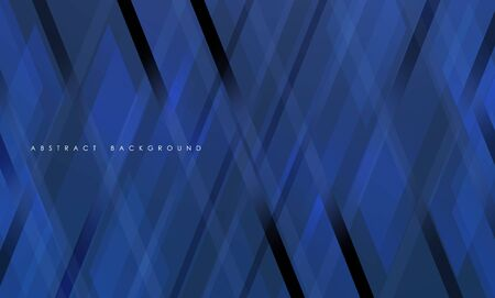 Abstract blue geometric strip pattern background. Ilustração