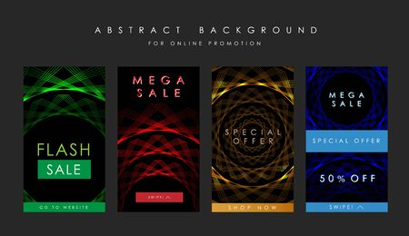Sale technology promotion template for mobile. Abstract background. Çizim