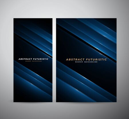 Abstract banner and poster futuristic background, Abstract art wallpaper. Vector illustration. Vettoriali