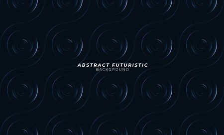 Graphic circles seamless pattern. Abstract futuristic art wallpaper. Vector illustration.