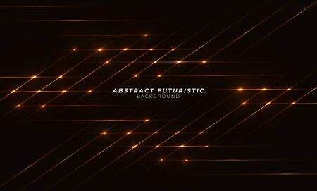 Abstract gold laser beams. Isolated on transparent black background. Abstract futuristic art wallpaper. Vector illustration.