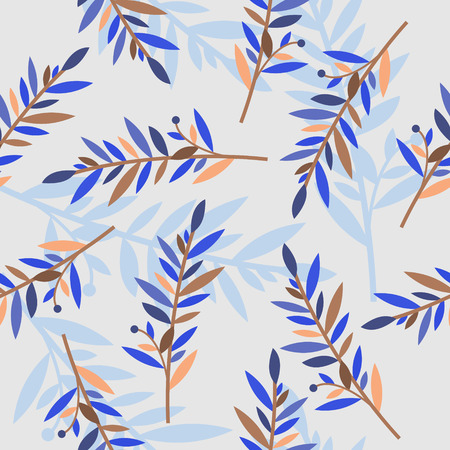 sepals: floral seamless pattern with branches for textile print