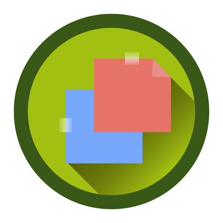 the passage: modern flat icon with the passage of tape. stickers and shadow