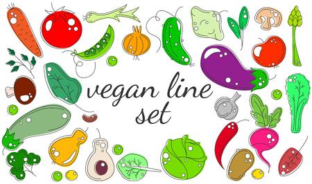 sorrel: vegetarian set of vegetables and fruits mega collection
