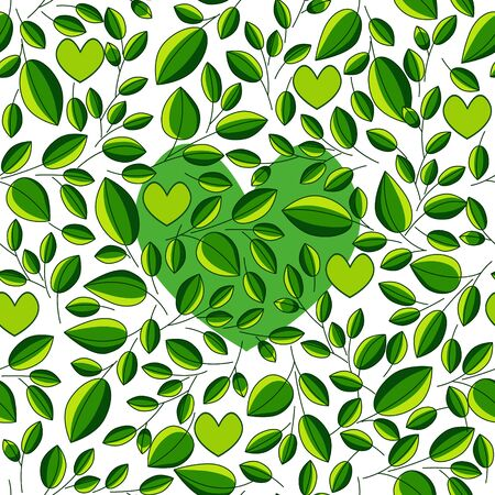 green tea leaf: seamless ecological pattern with green tea leaf for decoration and tea packing