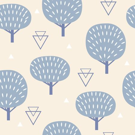 lapland: Seamless pattern in modern Scandinavian style. geometry background of north nature.