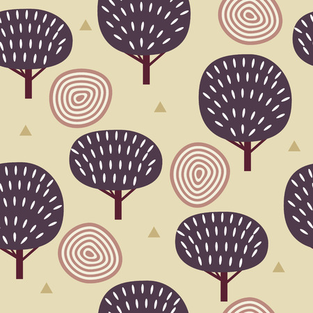 lapland: Seamless pattern in modern Scandinavian style. background of nature. Stock Photo