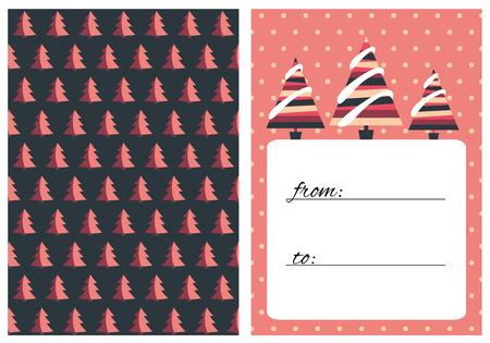 Collection Of 2 Christmas Card Templates. Christmas Posters Set ...