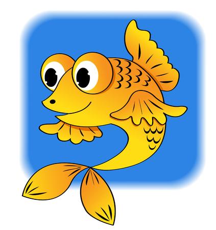 Cartoon fish. illustration.