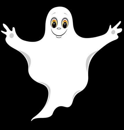 El fantasma de la bueno. Ilustración de dibujos animados.  Ilustración de vector