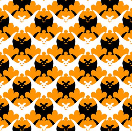 Halloween vleermuis naadloze.  Stock Illustratie