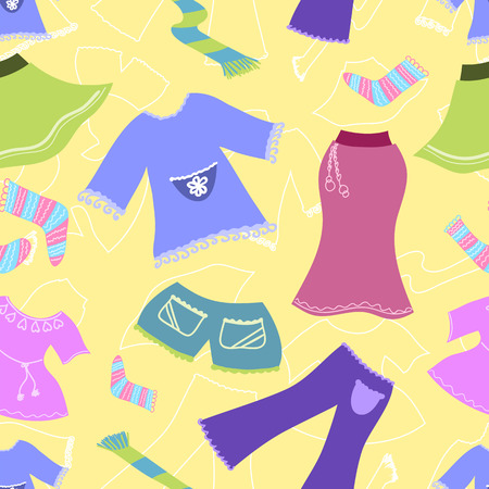 Seamless pattern clothes. background. Vector