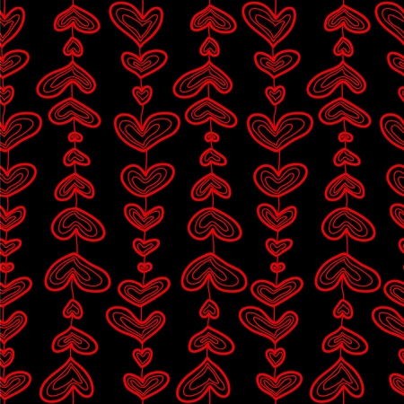 Seamless sketch hearts pattern. Stock Vector - 8598470