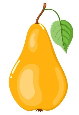 poires: La poire jaune. Illustration