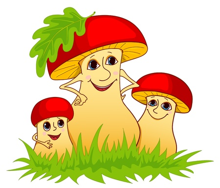 Family of mushrooms.