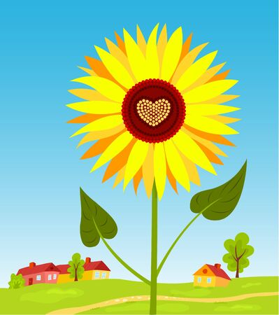 Sunflower. Stock Vector - 9893323