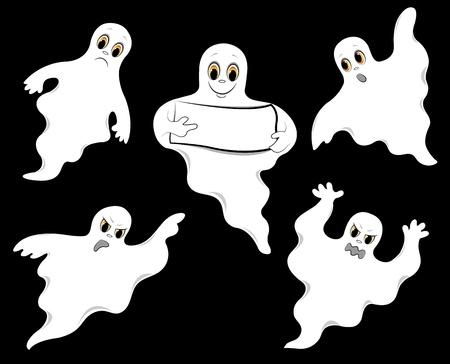 ghosts_set (13). jpg Stock Illustratie