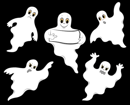 ghosts_set (13). jpg Vettoriali