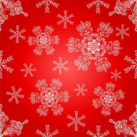 Lace snowflakes seamless pattern. Christmas vector background. Stock Vector - 11078079
