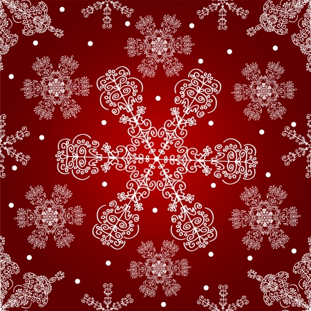 Lace snowflakes seamless pattern. Christmas vector background. photo