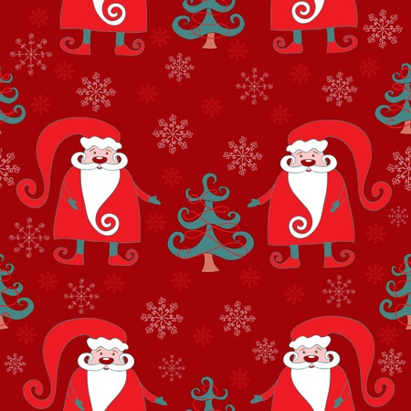 Red seamless christmas pattern 4. background. Stock Vector - 11596281