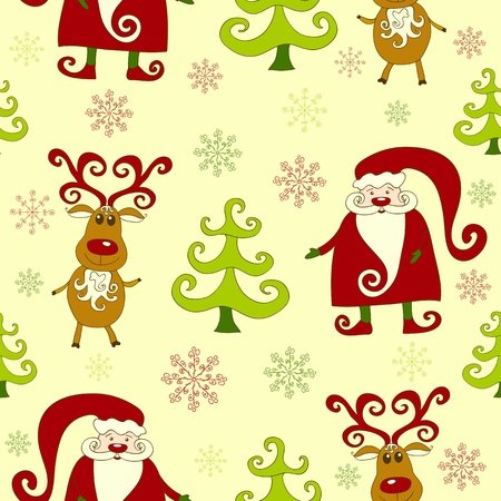 Yellow seamless christmas pattern 3. background. Vector