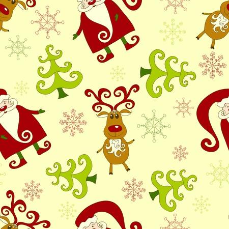 Yellow seamless christmas pattern 1. background.