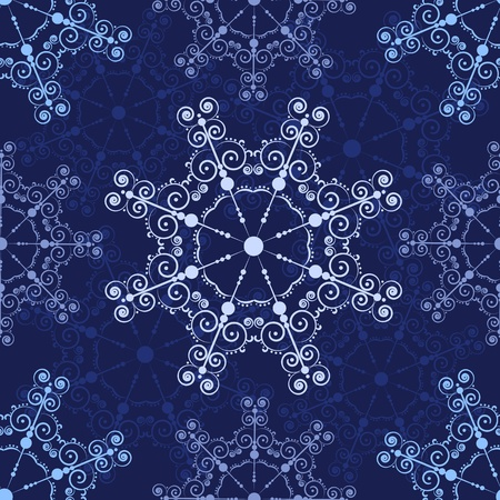 Blue seamless lace pattern. holiday background. Stock Vector - 11596285
