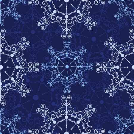 Blue seamless lace pattern. holiday background. Stock Vector - 11596286