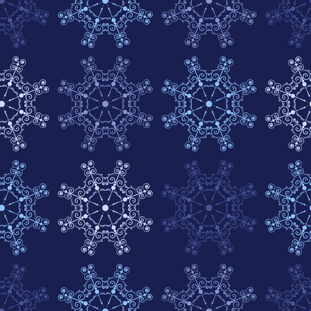 Blue seamless lace pattern. holiday background. Vector