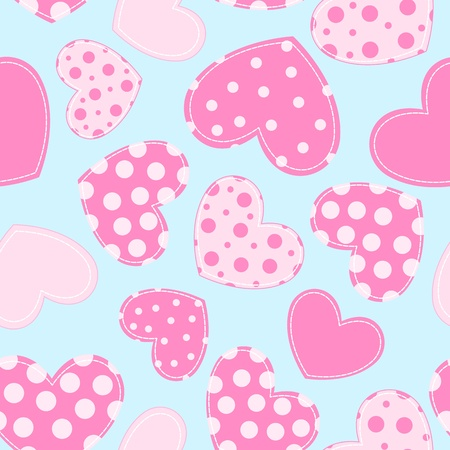 Seamless pattern with application hearts. background. Çizim