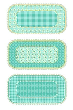 homespun: patchwork_set Illustration