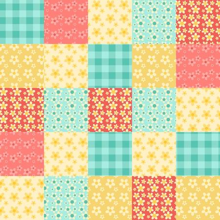 Seamless patchwork pattern. Vintage vector background.
