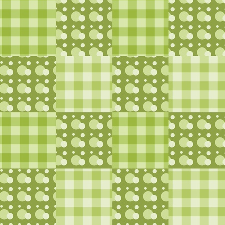 Seamless patchwork green pattern. background. Vector