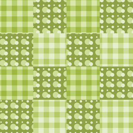 homespun: Seamless patchwork green pattern. background.
