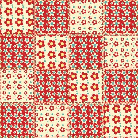 homespun: Quilt seamless pattern  patchwork background