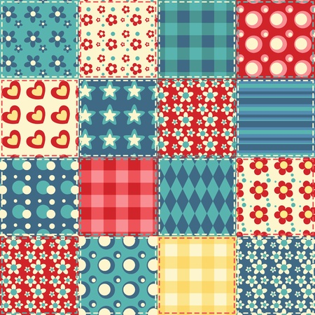 patchwork: Quilt seamless pattern  patchwork background