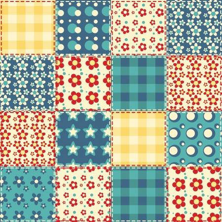 Quilt seamless pattern  patchwork background