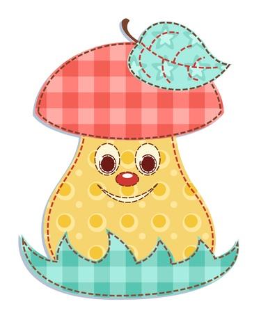 champignon magique: Champignons patchwork de bande dessin�e 1