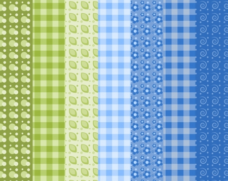 Set of 7 simple seamless pattern 6. Vector backgroungs. Vector