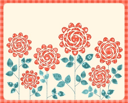 Patchwork roses card